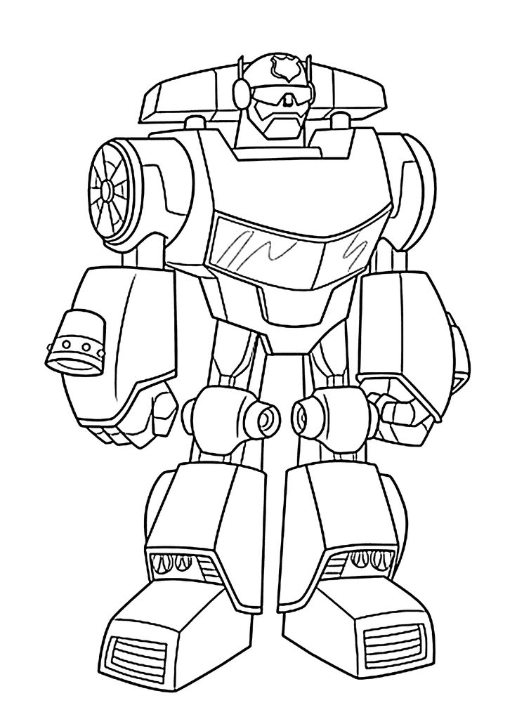 Rescue Bots Coloring Pages - Chase Bot Coloring Pages for Kids Printable Free Rescue