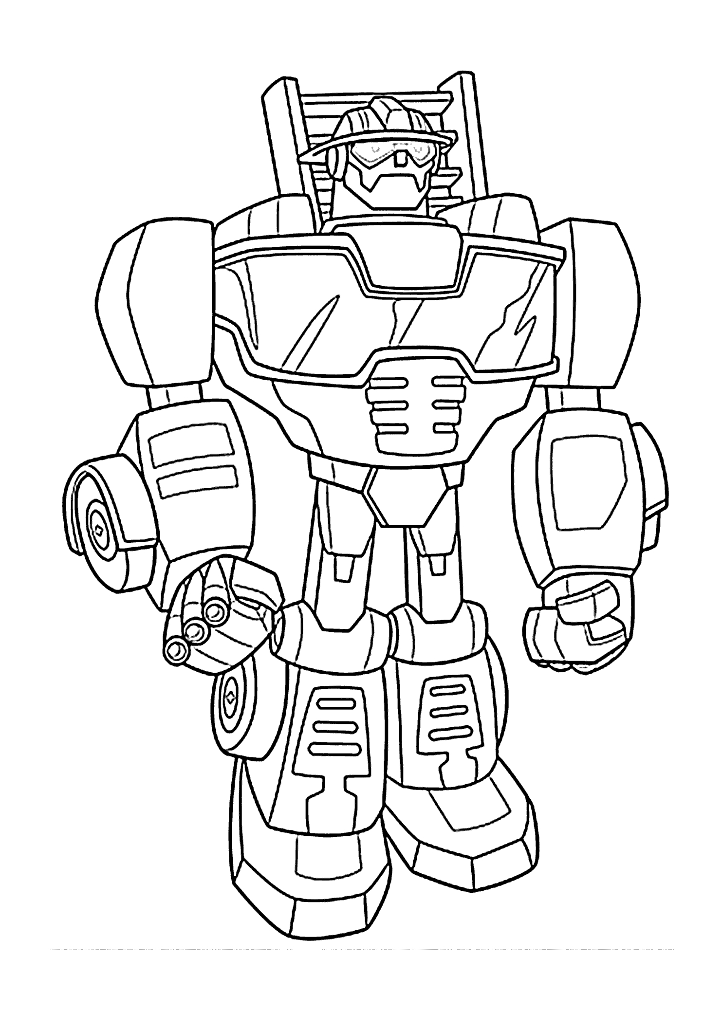 rescue bots coloring pages -