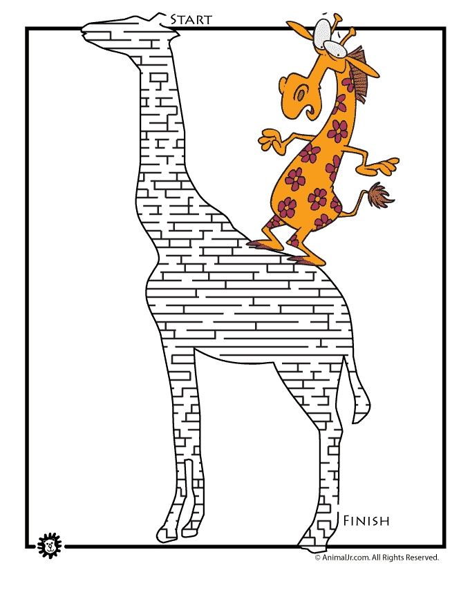 respect coloring pages - animal mazes 2