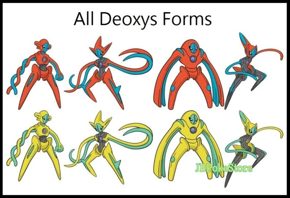 Respect Coloring Pages - Pokemon Deoxys All forms Cards