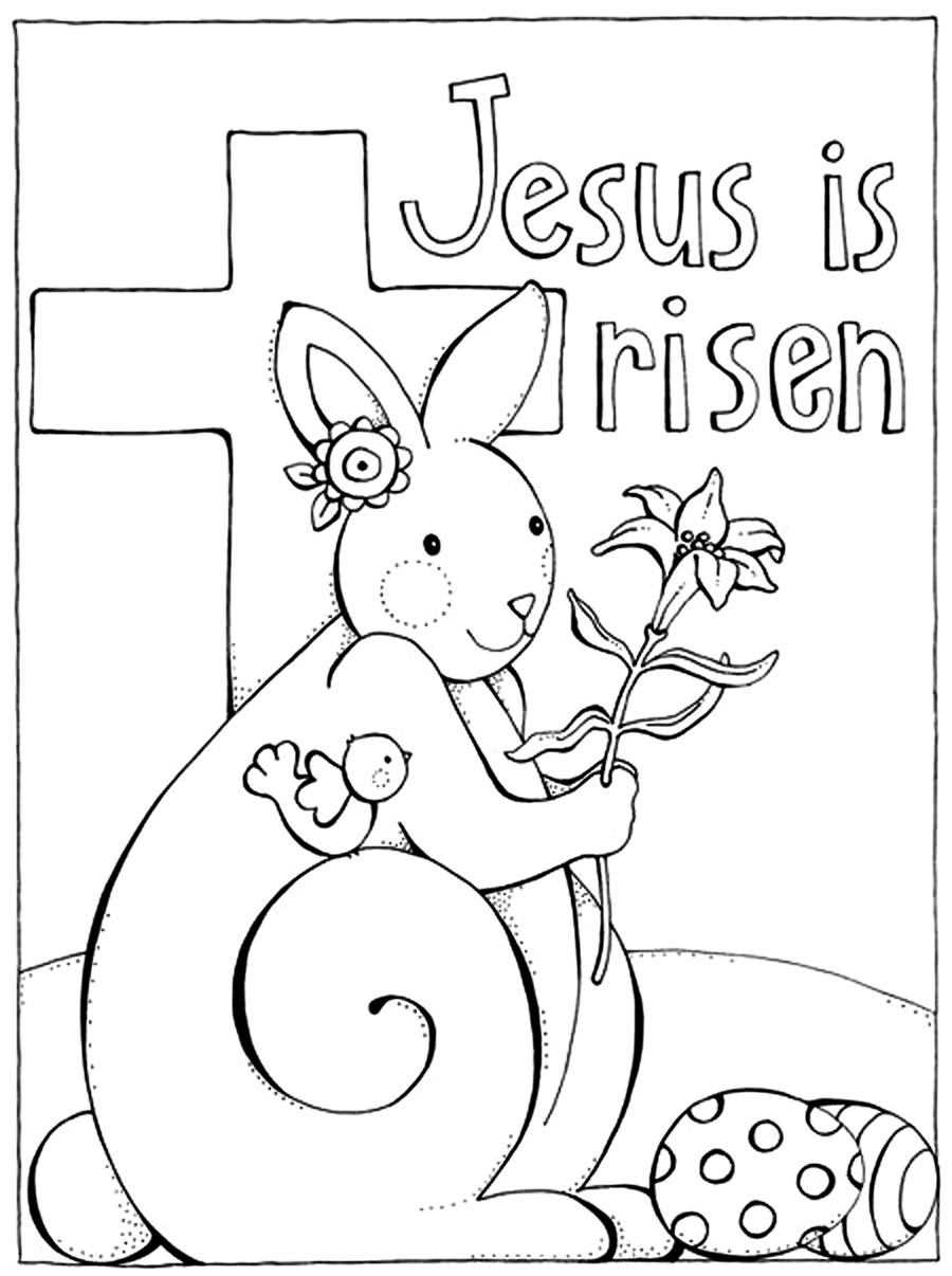 Resurrection Coloring Pages - Free Preschool Jesus Resurrection Coloring Pages