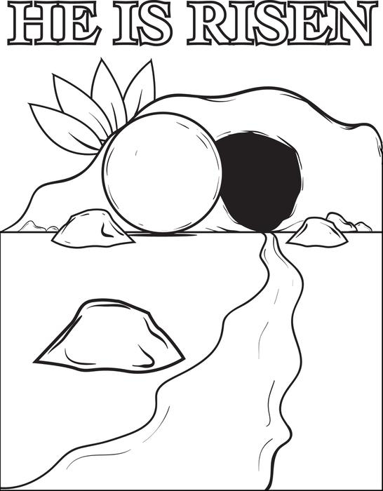 resurrection coloring pages - the resurrection of jesus christ coloring page
