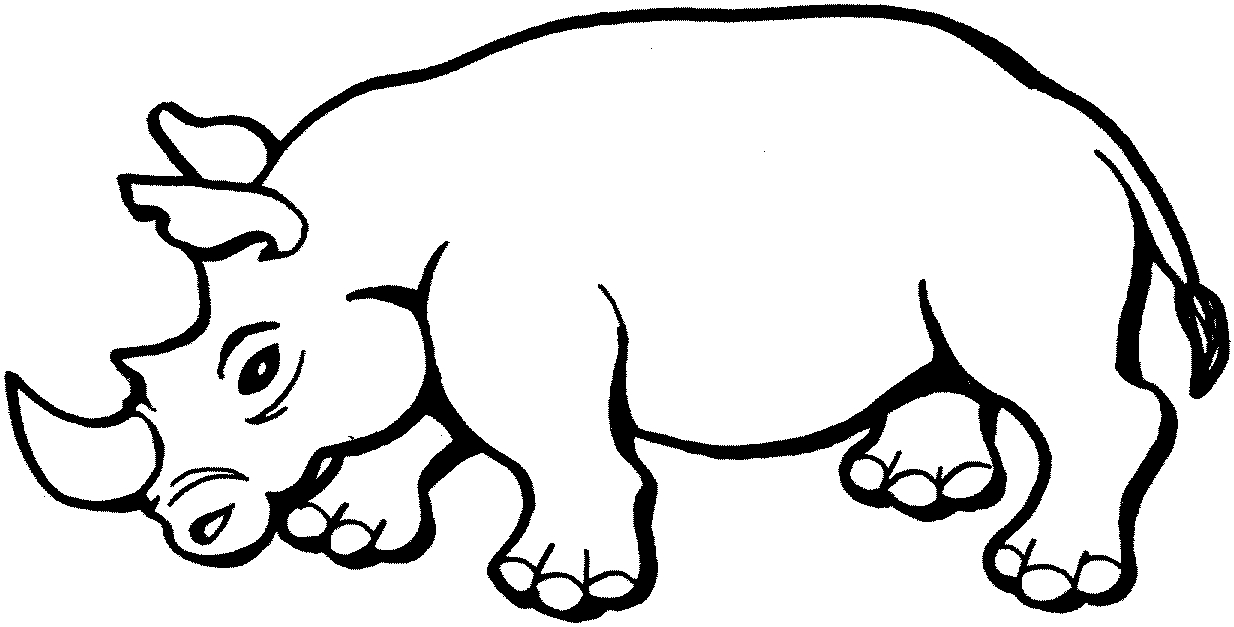 rhino coloring page - rhino coloring pages