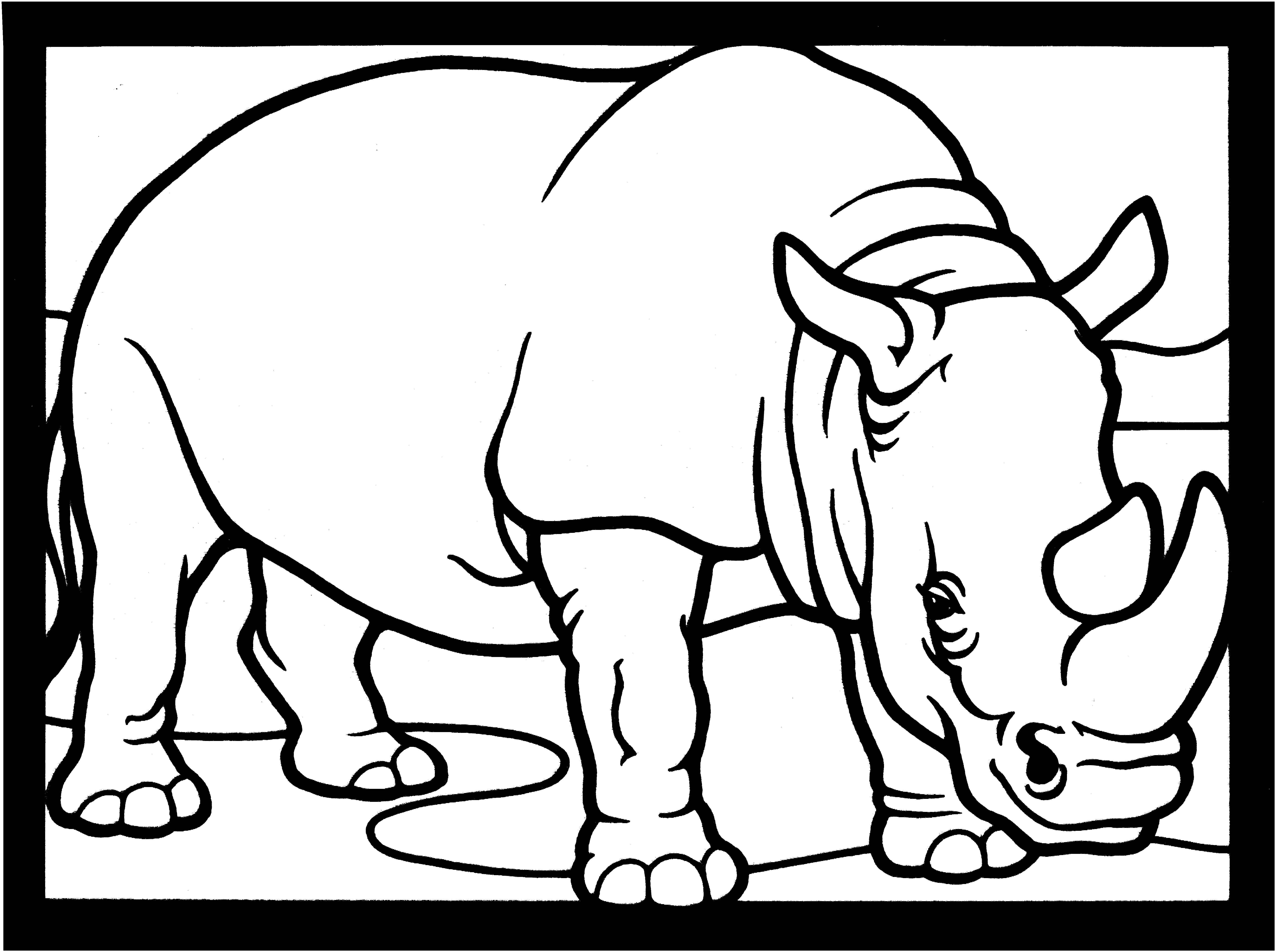 Rhino Coloring Page - Free Rhino Coloring Pages
