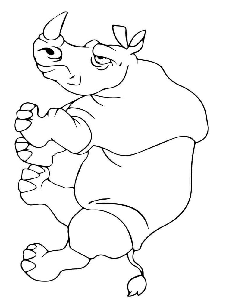 Rhino Coloring Page - Rhino Coloring Pages Download and Print Rhino Coloring Pages