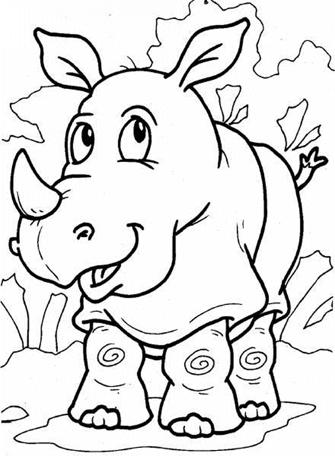 rhino coloring page - rhino coloring pages to kids