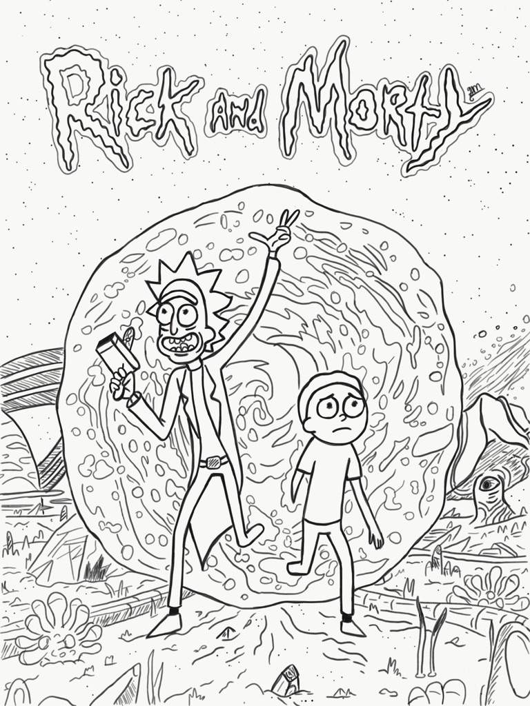 rick and morty coloring pages - rick and morty adult coloring pages sketch templates