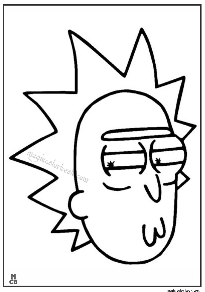 rick and morty coloring pages - rick and morty