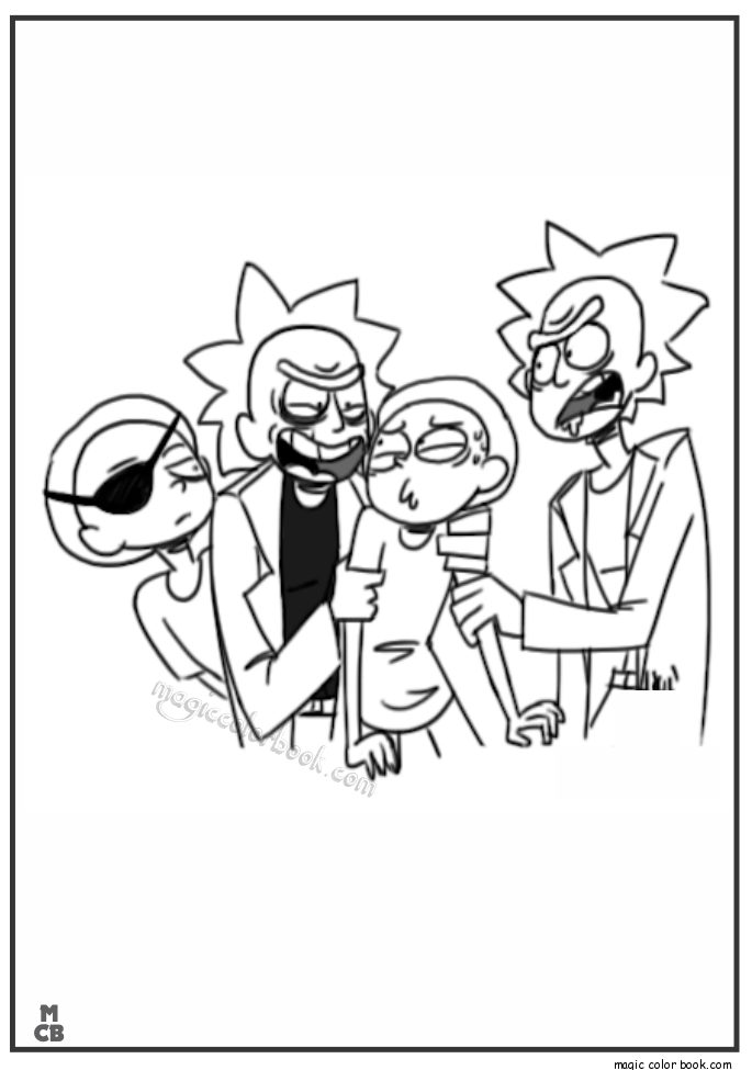 rick and morty coloring pages - rick morty coloring pages 04