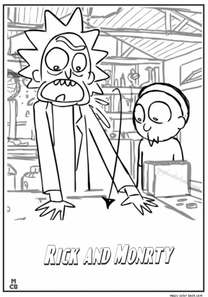 rick and morty coloring pages - rick morty coloring pages 2