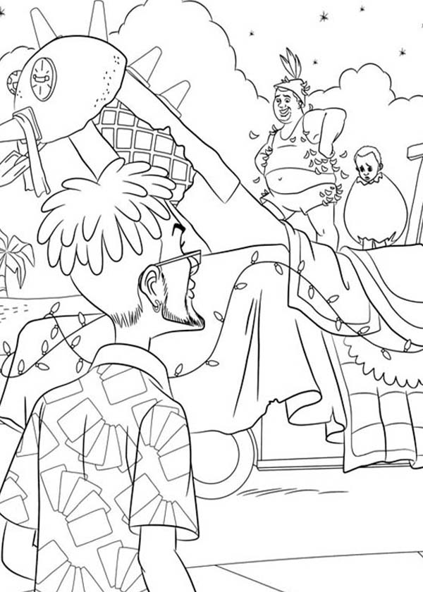 rio coloring pages - tyler blu gunderson from rio movie coloring pages