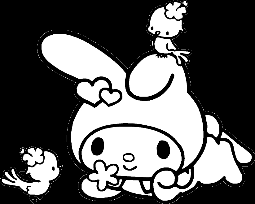 robin coloring pages - my melody coloring pages