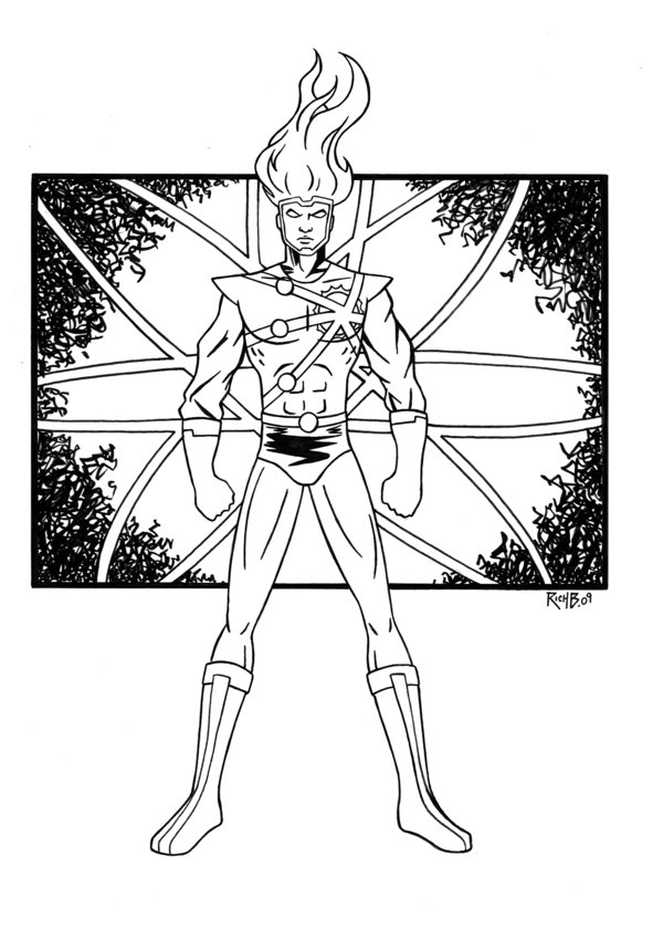 robin coloring pages - Firestorm