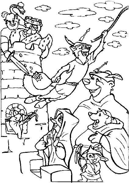 Robin Coloring Pages - Robin Hood