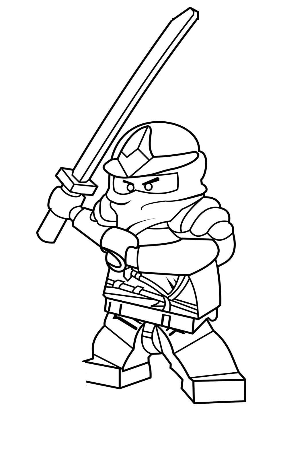 robot coloring pages - ninjago