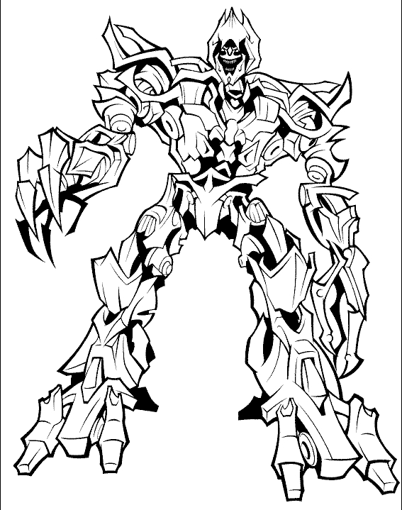 robot coloring pages - transformers coloring pages