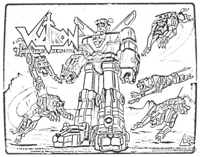 robot coloring pages - voltron coloring pages