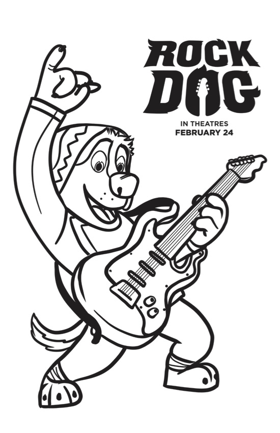 rock coloring pages - free rock dog coloring pages