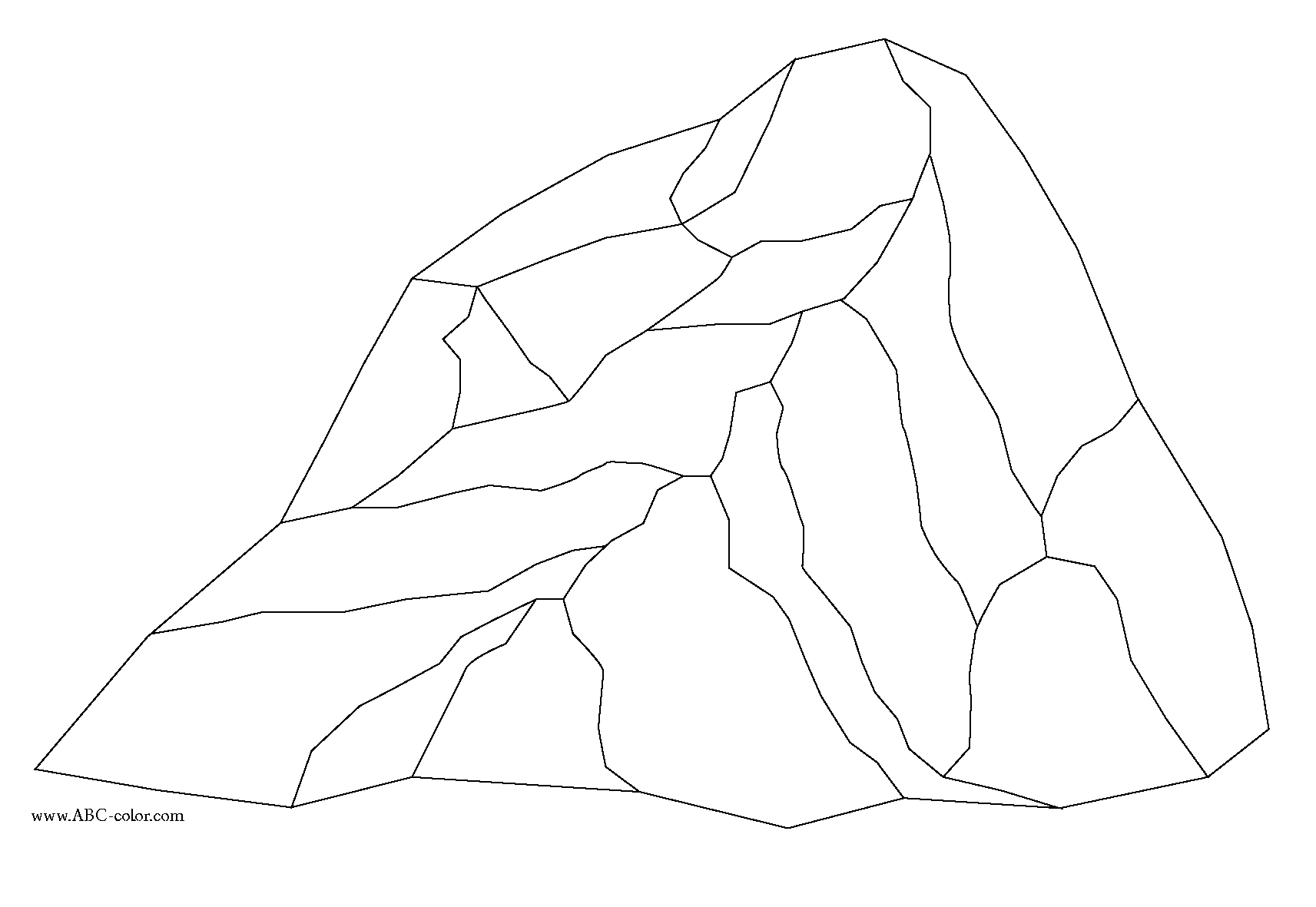 rock coloring pages - rock bitmap coloring entml