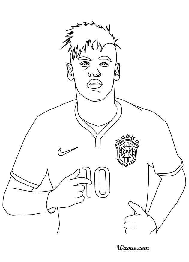 rock star coloring pages - coloriage neymar au bresil 2016