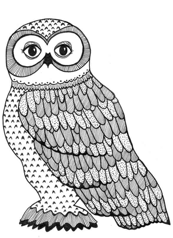 rock star coloring pages - its owl good an adult coloring book