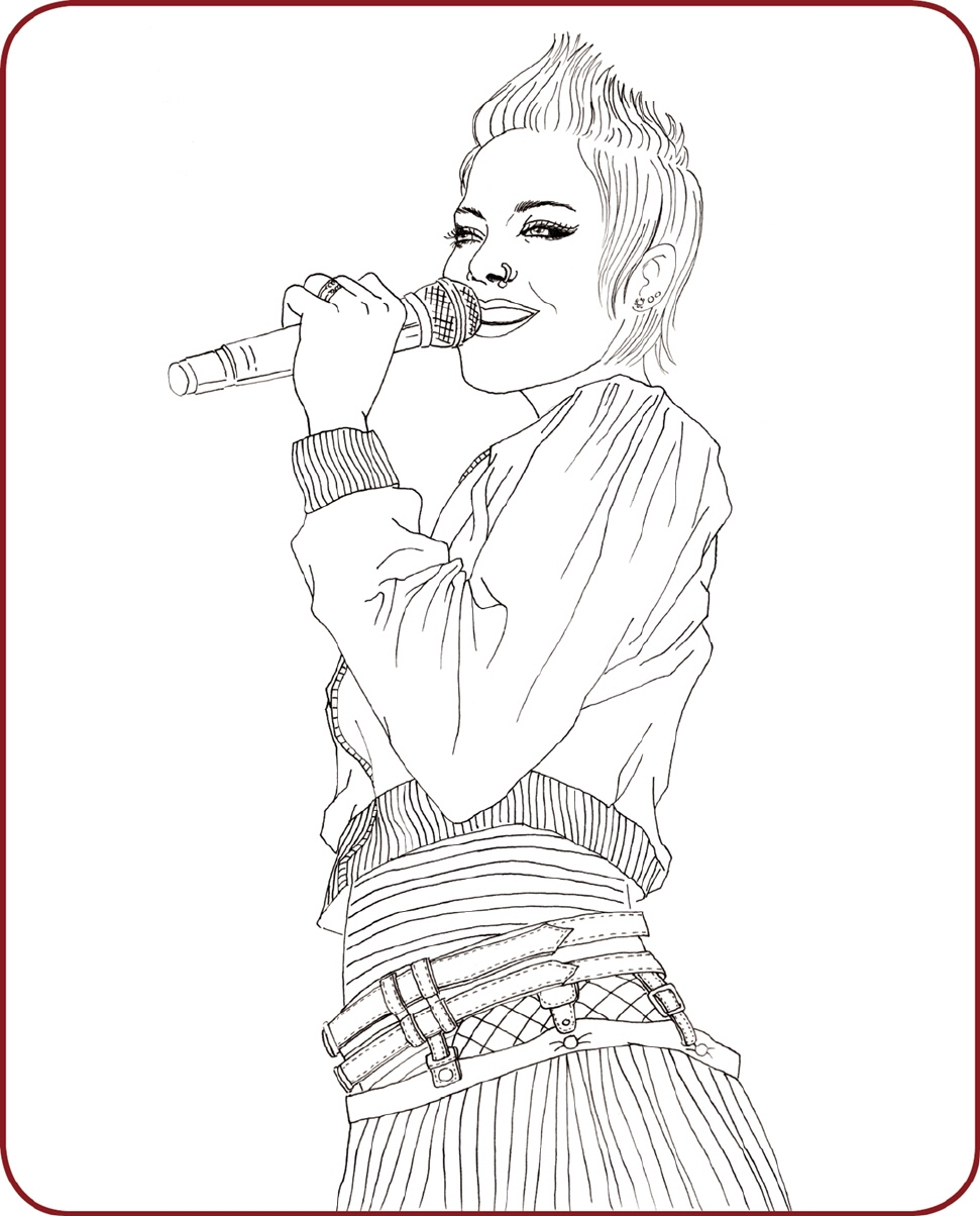 rock star coloring pages - MEINE STARS – DAS GENIALE MALBUCH