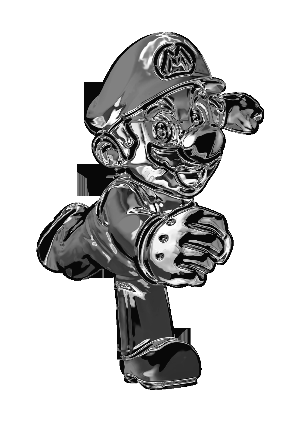 rock star coloring pages - Metal Mario power up