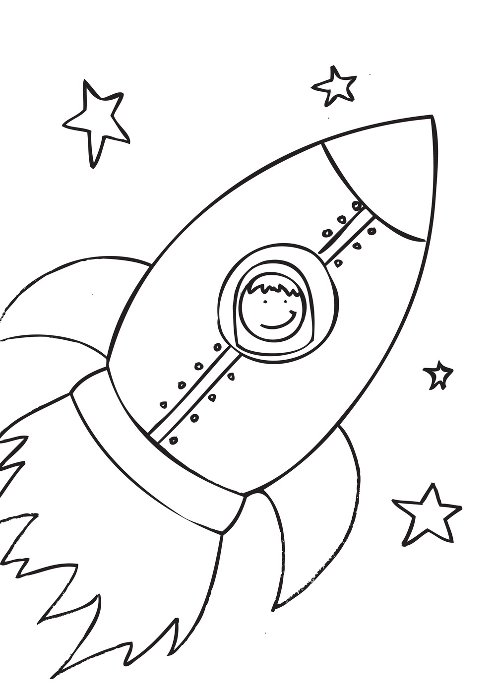 rocket coloring pages - rocket ship coloring pages