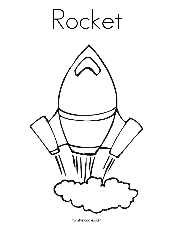 rocket coloring pages - rocket 2 coloring page