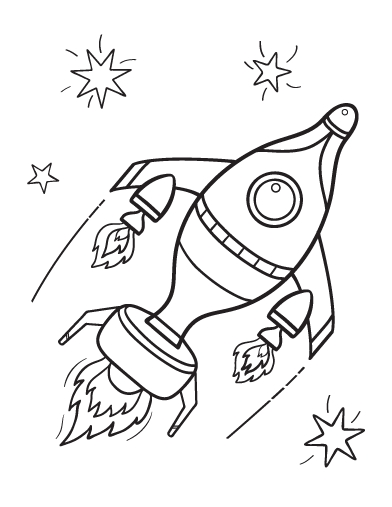 Rocket Ship Coloring Page - Free Rocket Ship Coloring Page