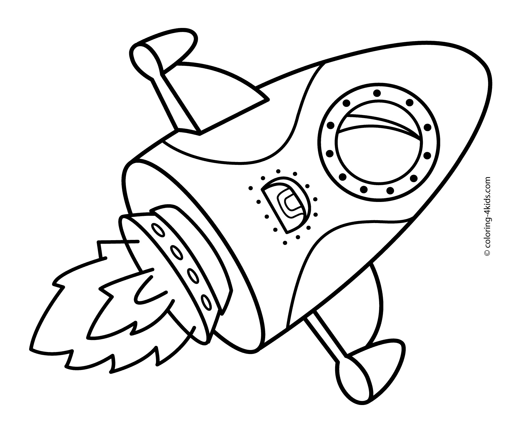 rocket ship coloring page - rocket coloring pages
