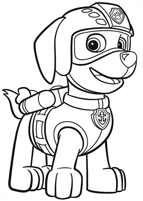 rocky paw patrol coloring page - coloriage dessins pat patrouille paw patrol