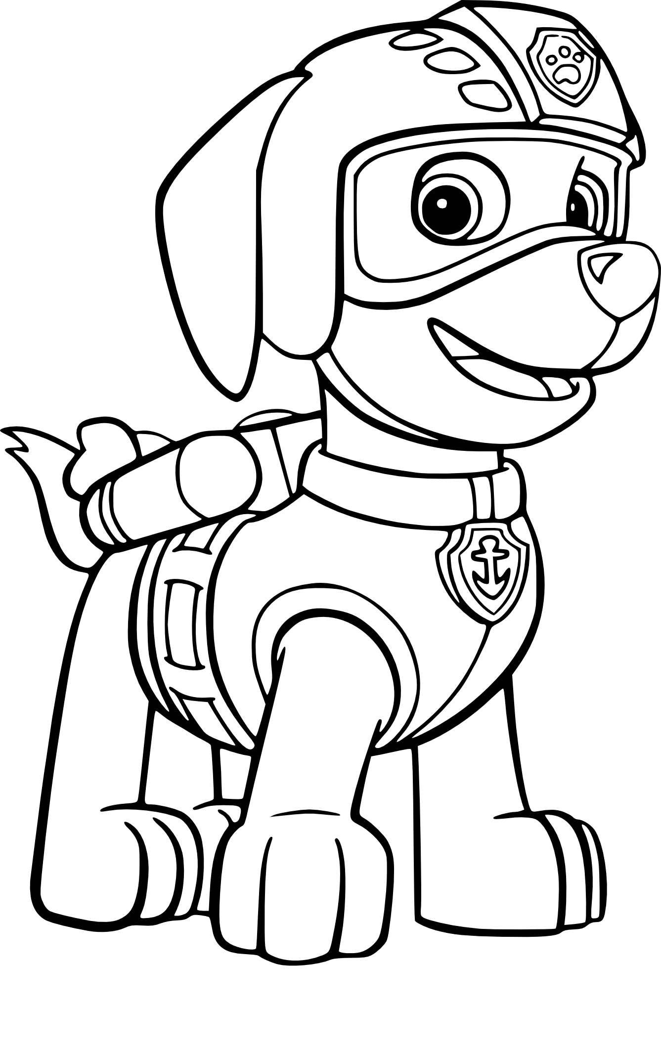 rocky paw patrol coloring page - 3