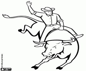 Rodeo Coloring Pages - Ausmalbilder Wilden Westens Malvorlagen