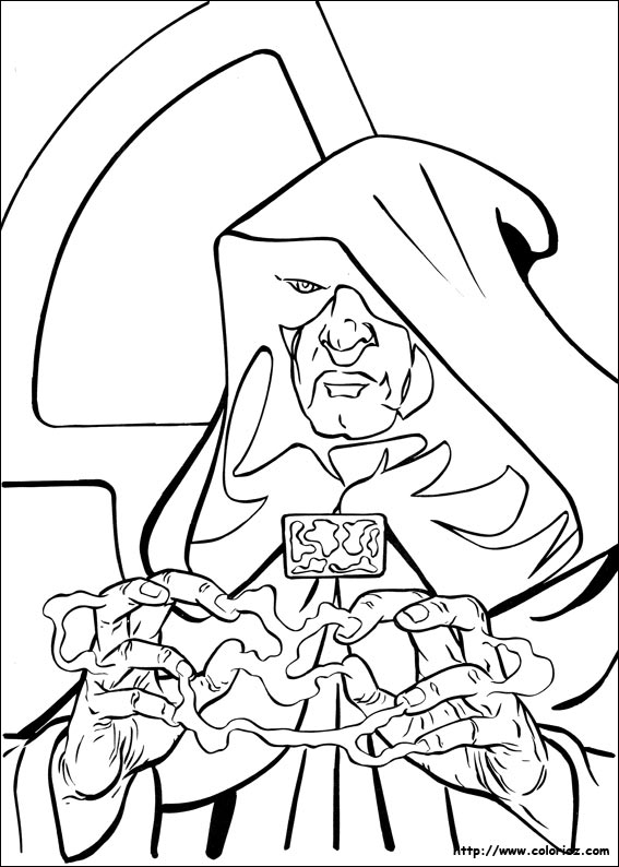 rogue one coloring pages - darth sidious et le cote obscur