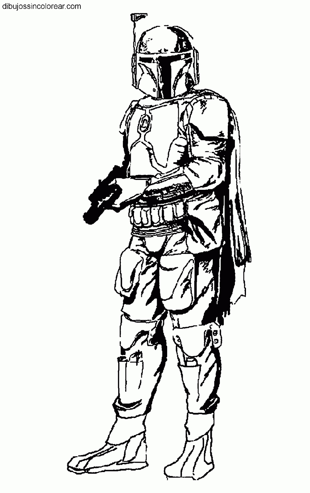 Rogue One Coloring Pages - Dibujos Sin Colorear Dibujos De Boba Fett Star Wars La