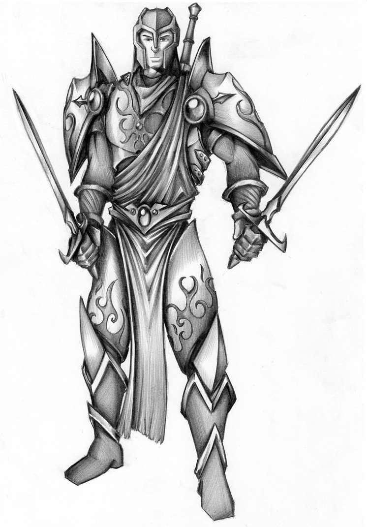 rogue one coloring pages - Dragon Order Paladin