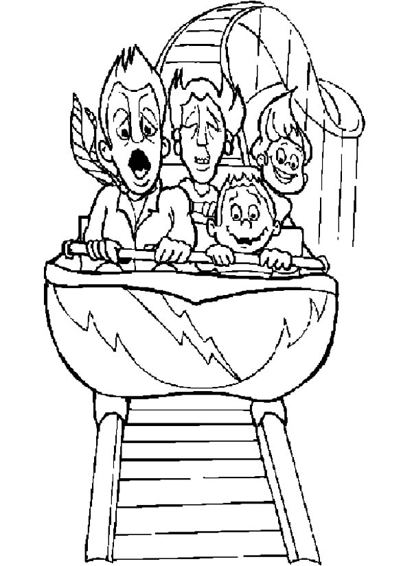 Roller Coaster Coloring Pages - Roller Coaster Car Coloring Sheet Coloring Pages