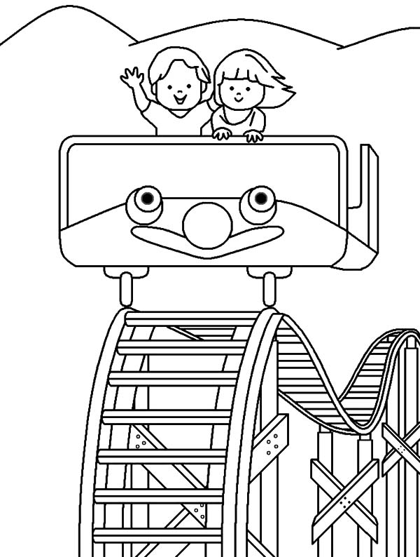 roller coaster coloring pages - roller coaster coloring book sketch templates