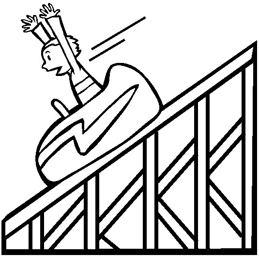 roller coaster coloring pages - roller coaster sketch templates