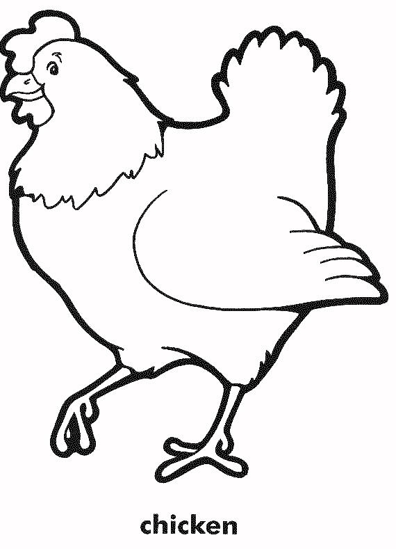 rooster coloring page - coloring book