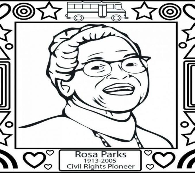 rosa parks coloring page - rosa parks coloring