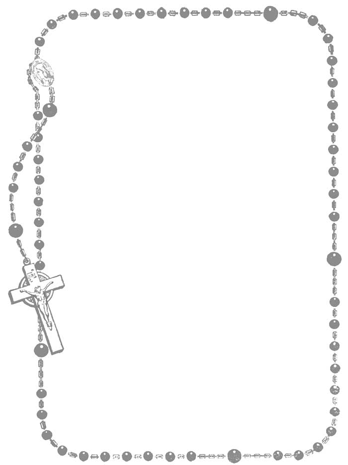 rosary coloring page -