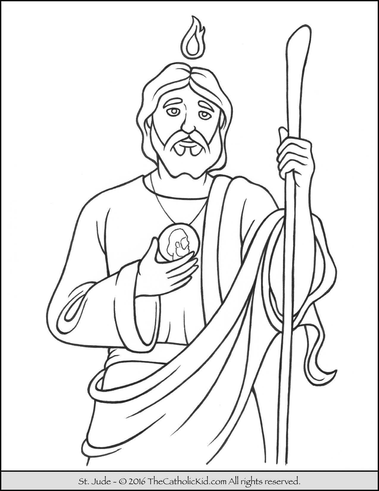 rosary coloring page - saint jude coloring page