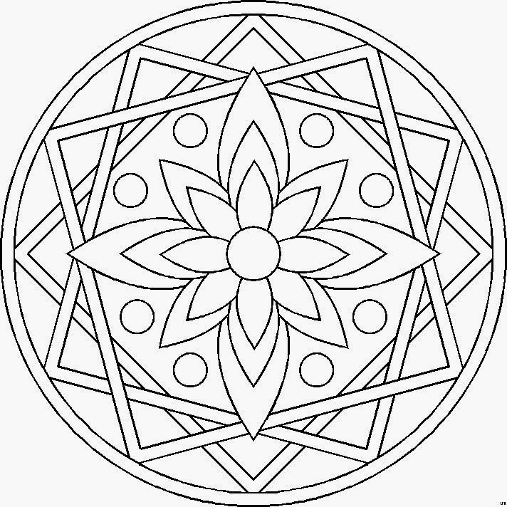 Rose Coloring Pages for Adults - 25 Unique Mandalas Faciles Ideas On Pinterest