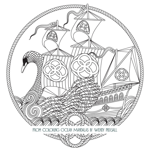 rose coloring pages for adults - coloring ocean mandalas is here preview the book