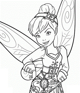 rose coloring pages for adults - dibujo de tinkerbell o hada pirata