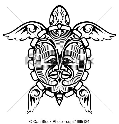 rose coloring pages for adults - tribal totem animal tortue tatouage