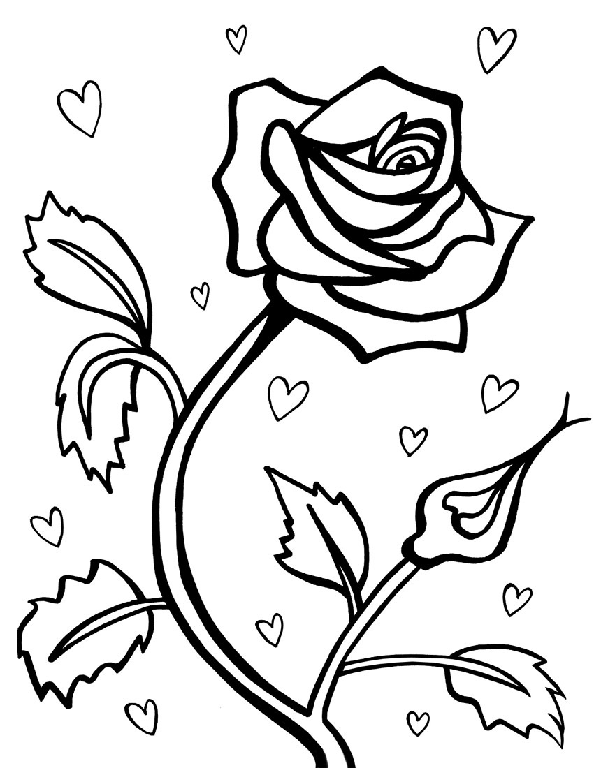 rose coloring pages printable - rose coloring pages printable