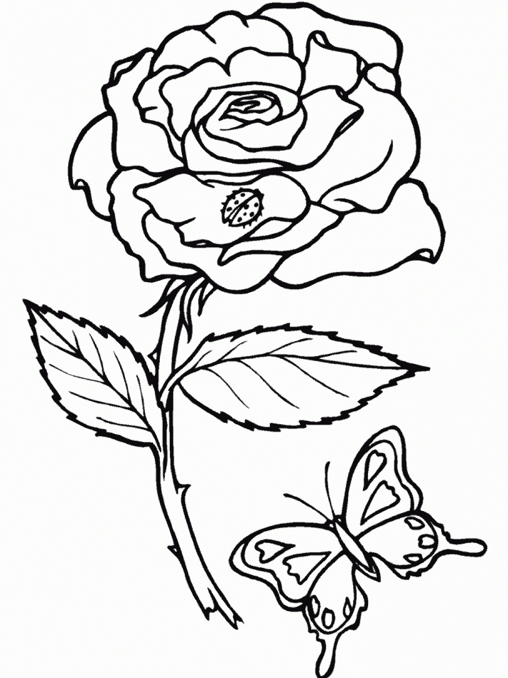 rose coloring pages printable - roses coloring pages